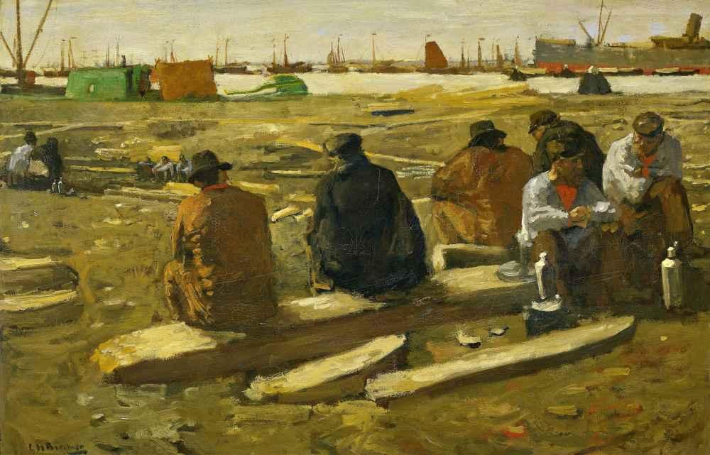 Lunchtime at the Building Site on the Van Diemenstraat in Amsterdam -