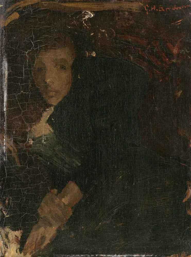 MCJ (Marie) Jordan (1866-1948), The Artists Wife - George Hendrik Brei