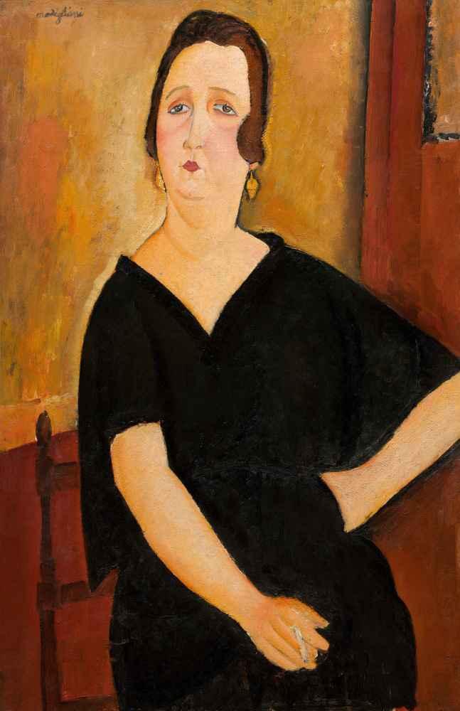 Madame Amédée (Woman with Cigarette), 1918 - Amedeo Modigliani
