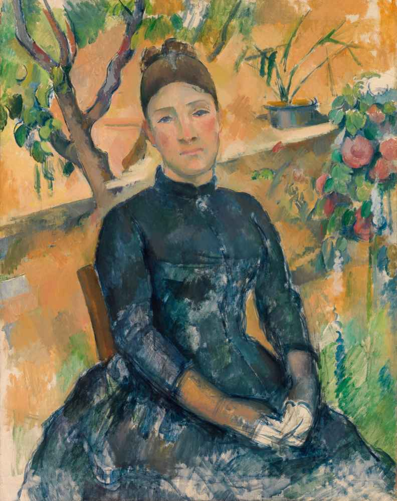 Madame Cézanne (Hortense Fiquet, 1850–1922) in the Conservatory - Paul