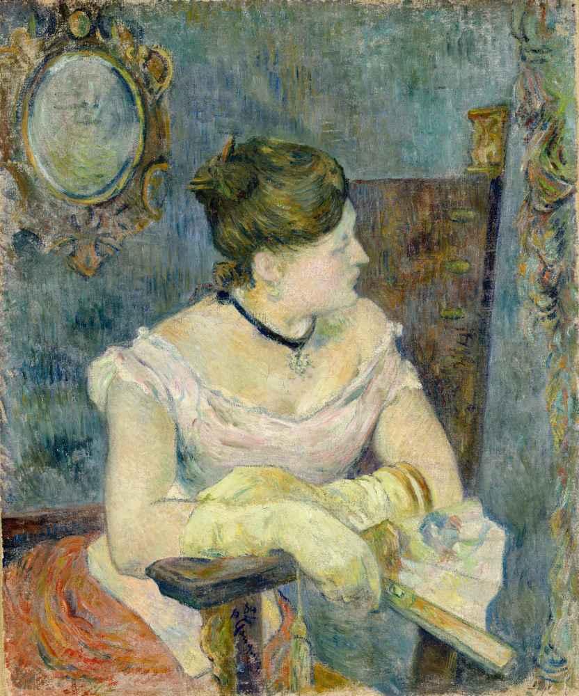 Madame Mette Gauguin in Evening Dress - Paul Gauguin