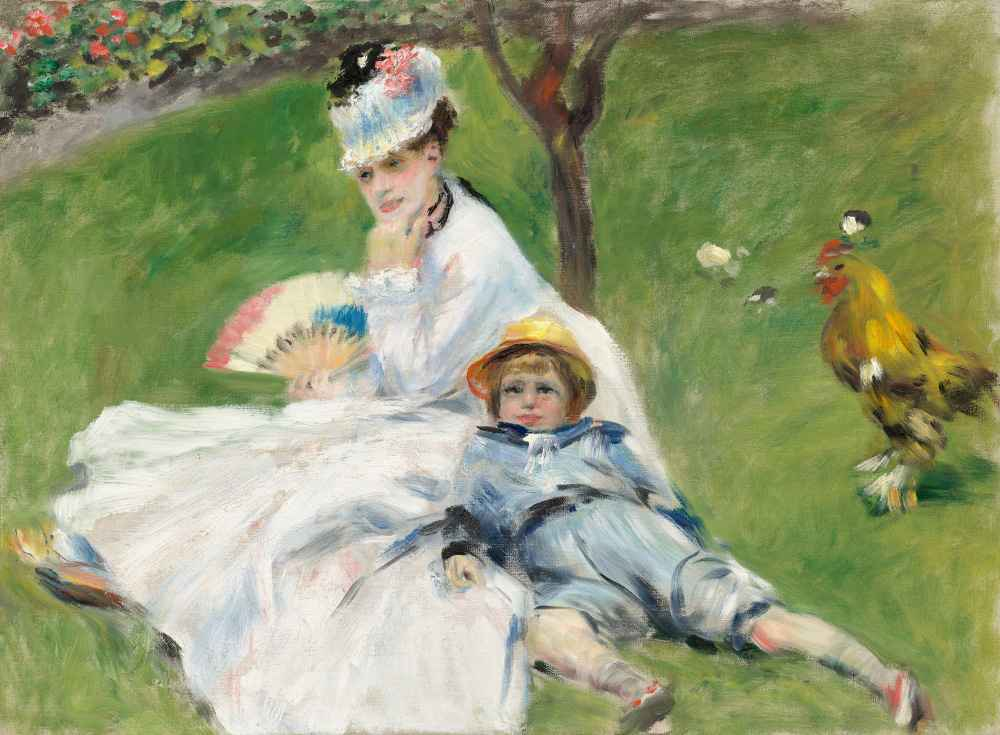 Madame Monet and Her Son - Auguste Renoir