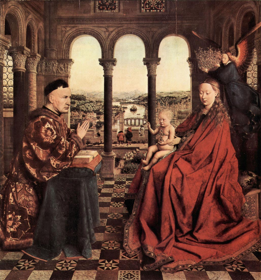 Madonna and Chancellor Nicholas Rolin - Jan Van Eyck