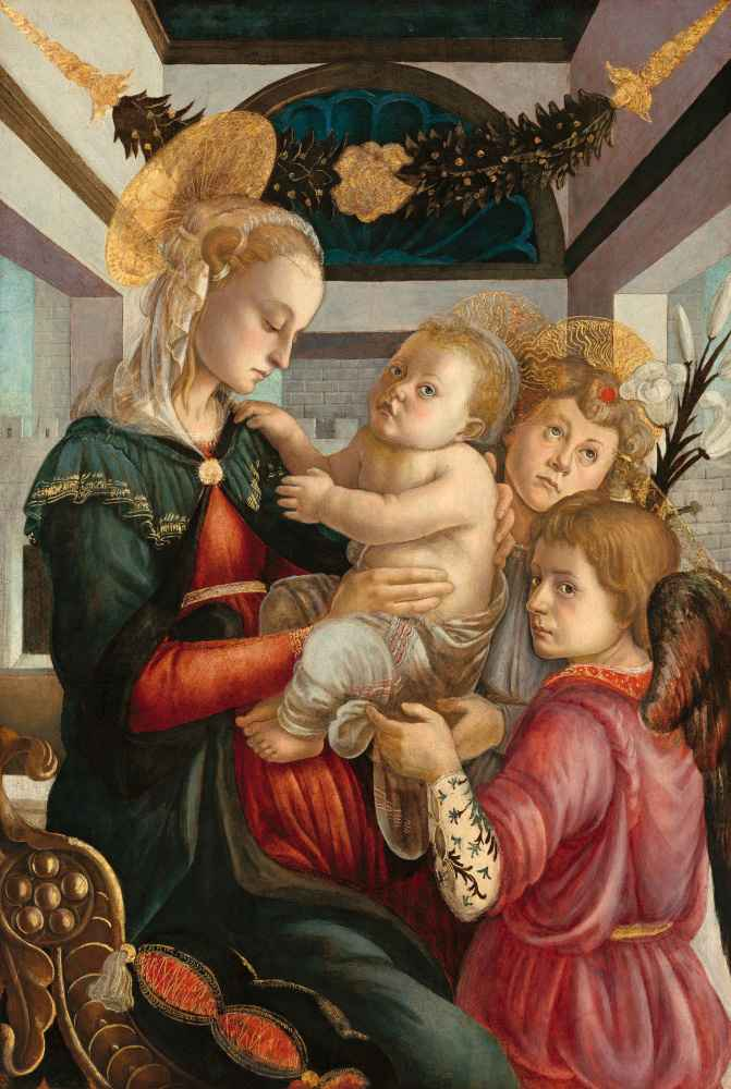 Madonna and Child with Angels - Sandro Botticelli