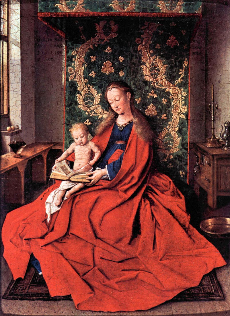 Madonna and child reading - Jan Van Eyck