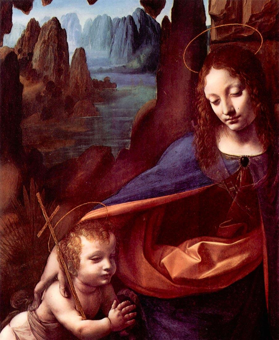 Madonna in the rock cave Detail - Da Vinci