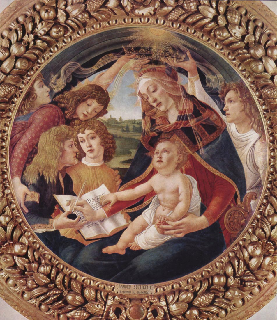 Madonna the Magnificent Detail 1 - Botticelli