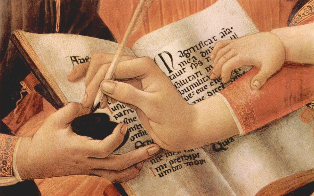 Madonna the Magnificent Detail 2 - Botticelli