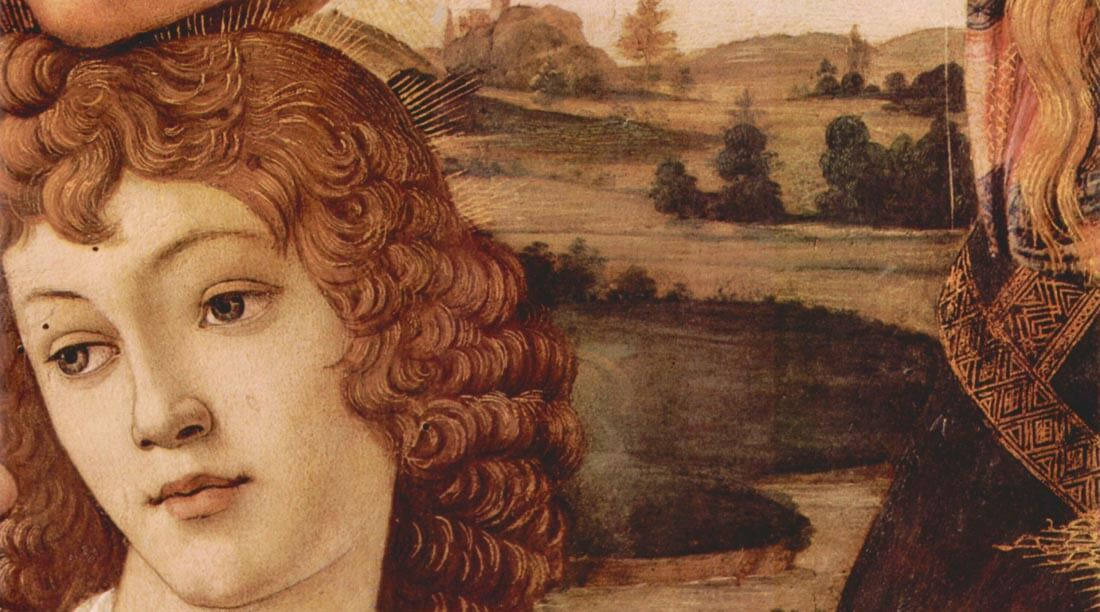 Madonna the Magnificent Detail 3 - Botticelli