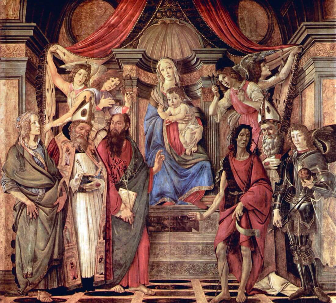 Madonna throne of angels and saints - Botticelli