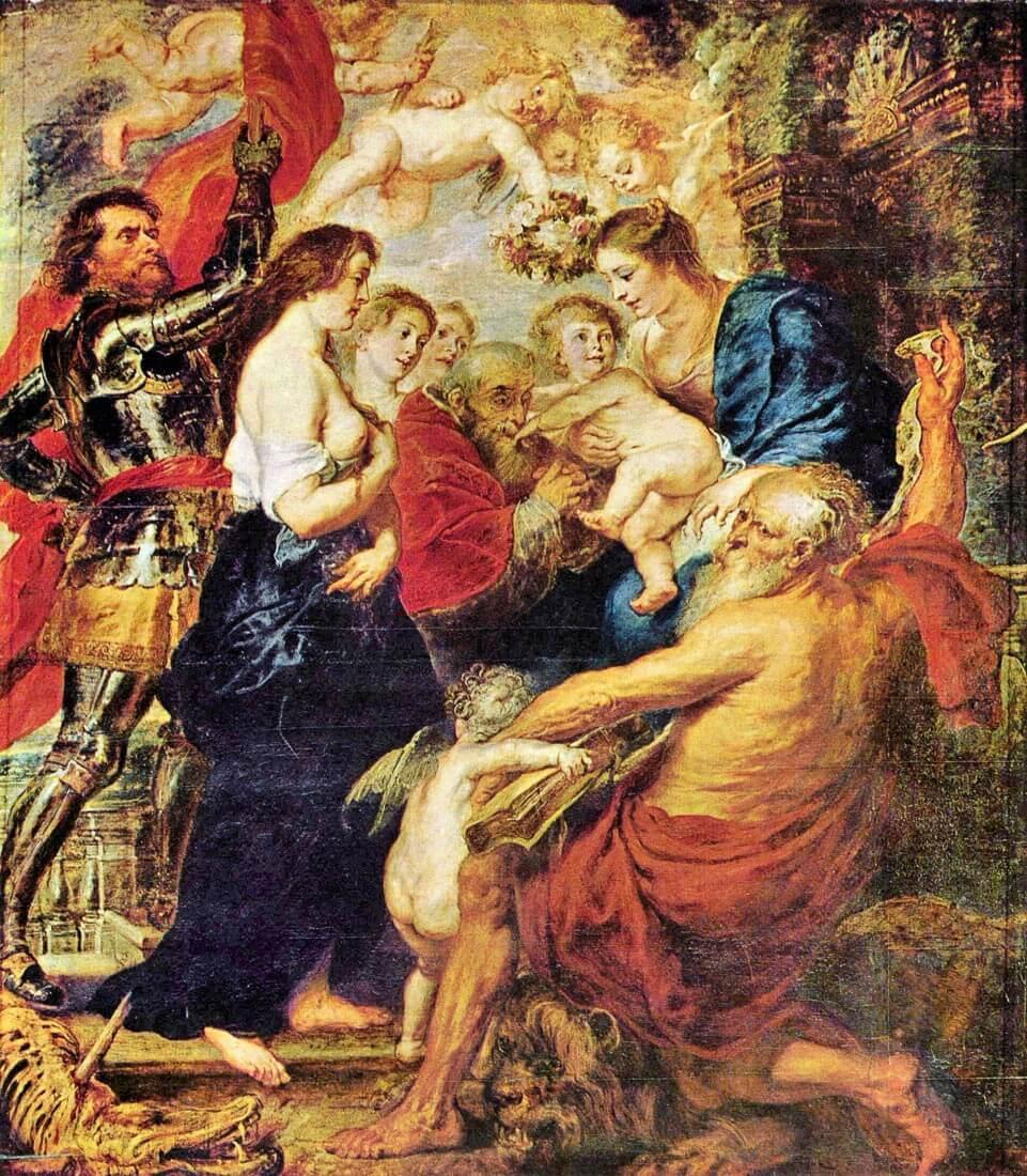 Madonna with Saints - Rubens