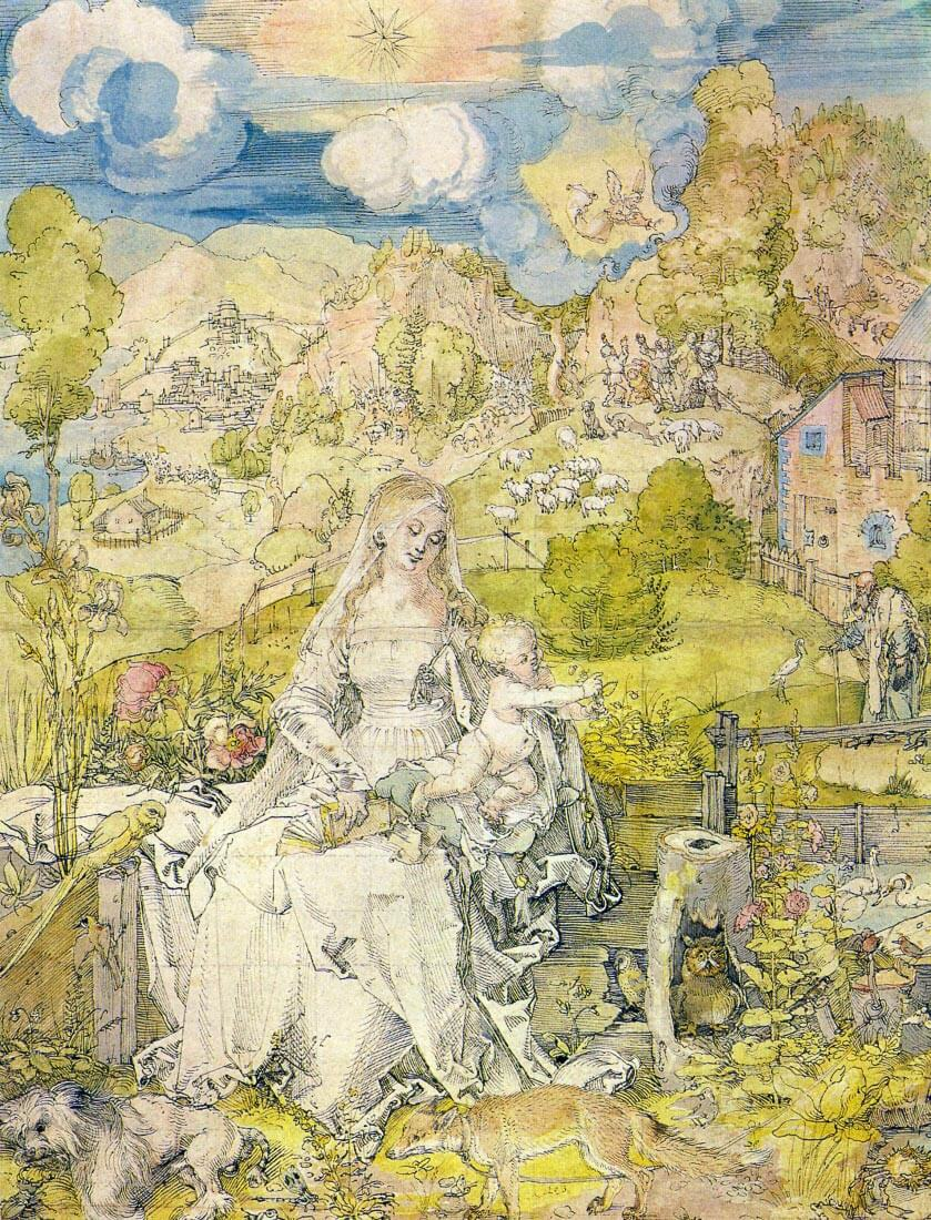 Madonna with the many animals - Durer