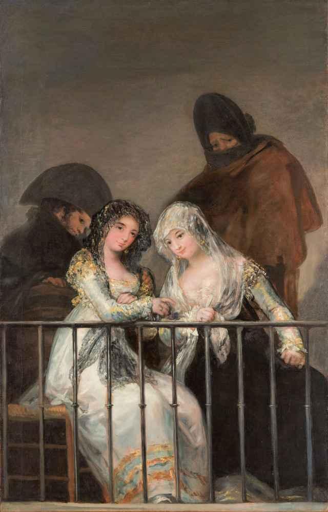 Majas on a Balcony 2 - Francisco Goya