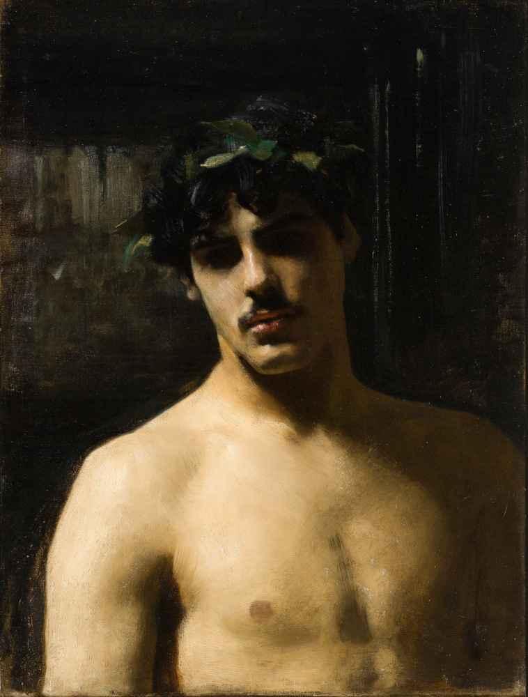 Man Wearing Laurels - John Singer Sargent