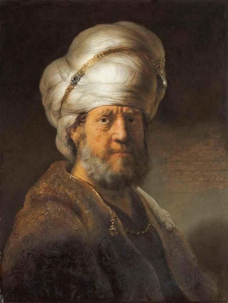 Man in Oriental Clothing - Rembrandt Harmenszoon van Rijn