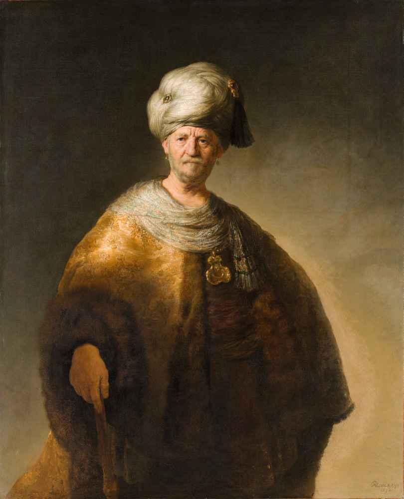 Man in a Turban - Rembrandt Harmenszoon van Rijn