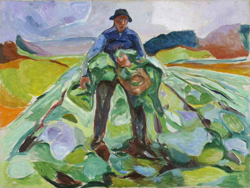 Man in the Cabbage Field - Edward Munch