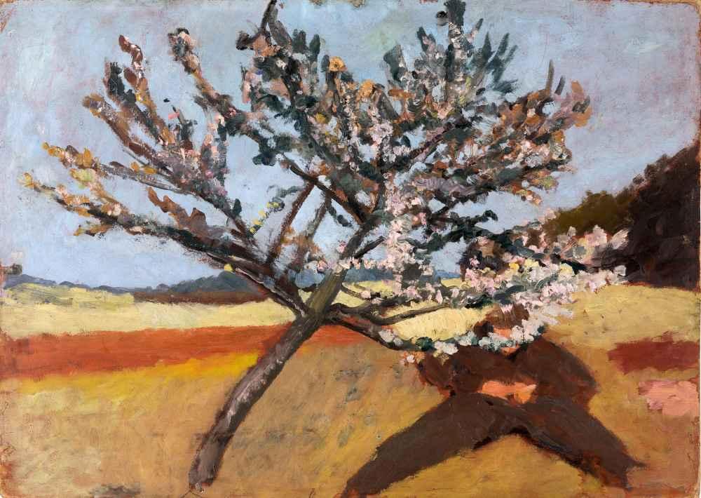 Man lying beneath a Blossoming Tree - Paula Modersohn-Becker