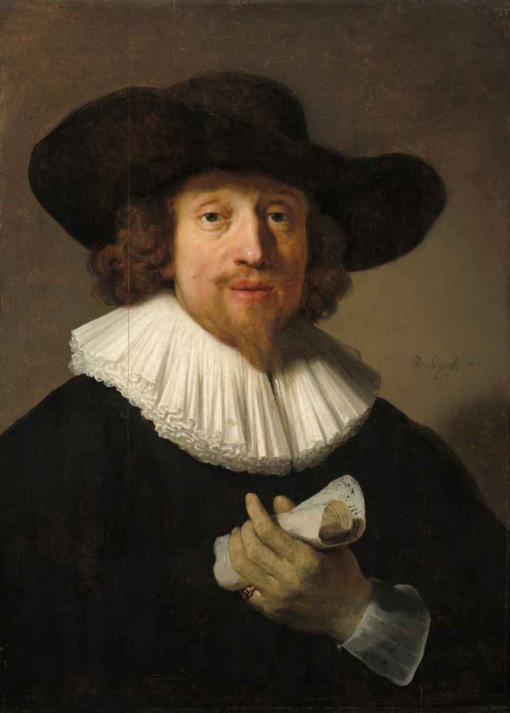 Man with a Sheet of Music - Rembrandt Harmenszoon van Rijn