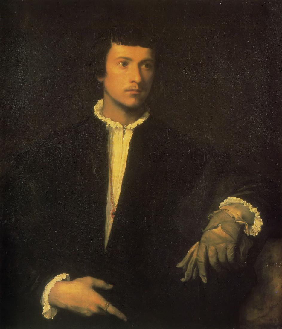Man with gloves - Titian