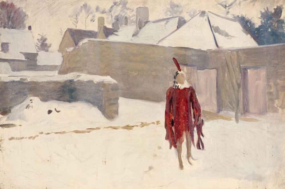 Mannikin in the Snow - John Singer Sargent
