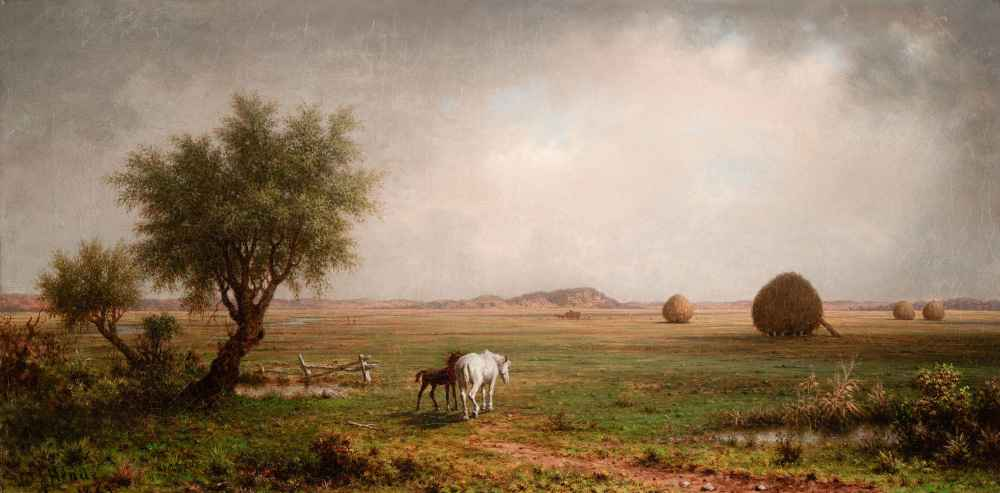 Mare and Colt in a Marsh - Martin Johnson Heade