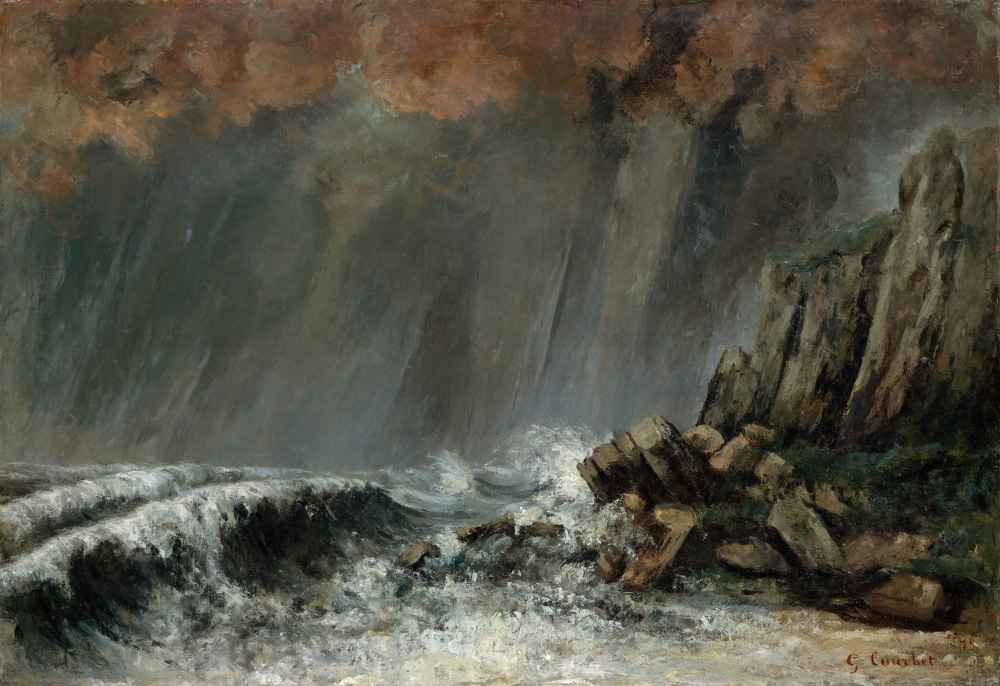 Marine - The Waterspout - Gustave Courbet