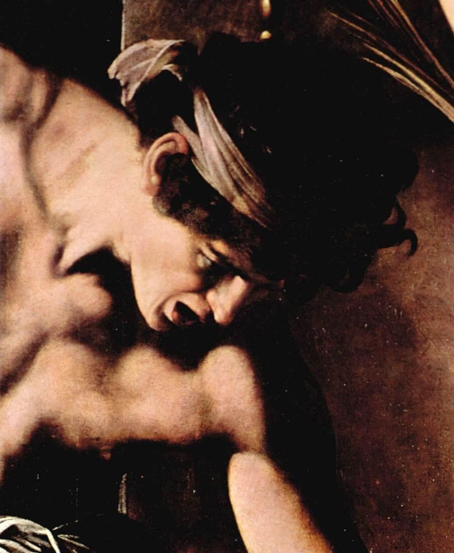 Martyrdom of St. Matthew detail - Caravaggio