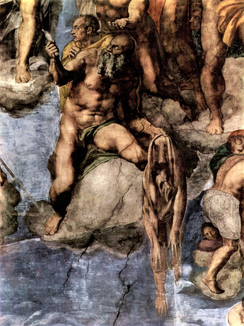 Martyrs with human skin - Michelangelo