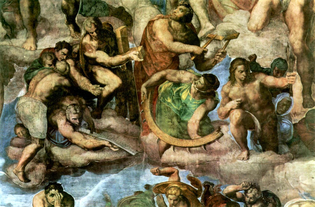 Martyrs with tools of their martyrdom - Michelangelo