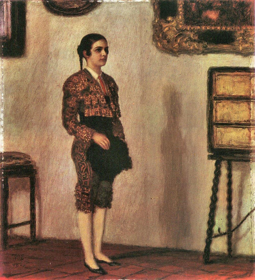 Mary as a bullfighter - Franz von Stuck
