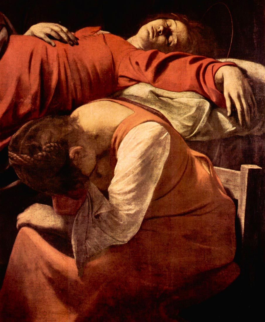 Marys death detail - Caravaggio