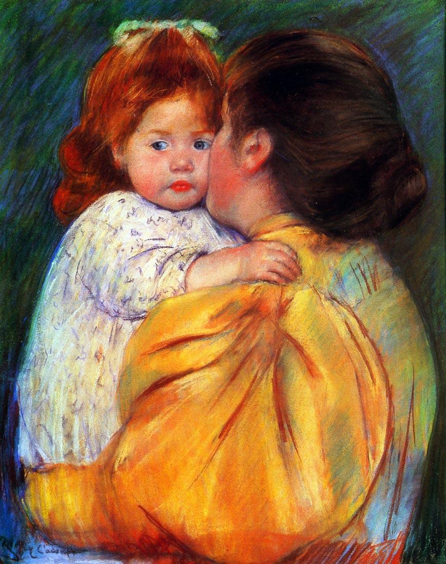 Maternal Kiss 1896 - Cassatt