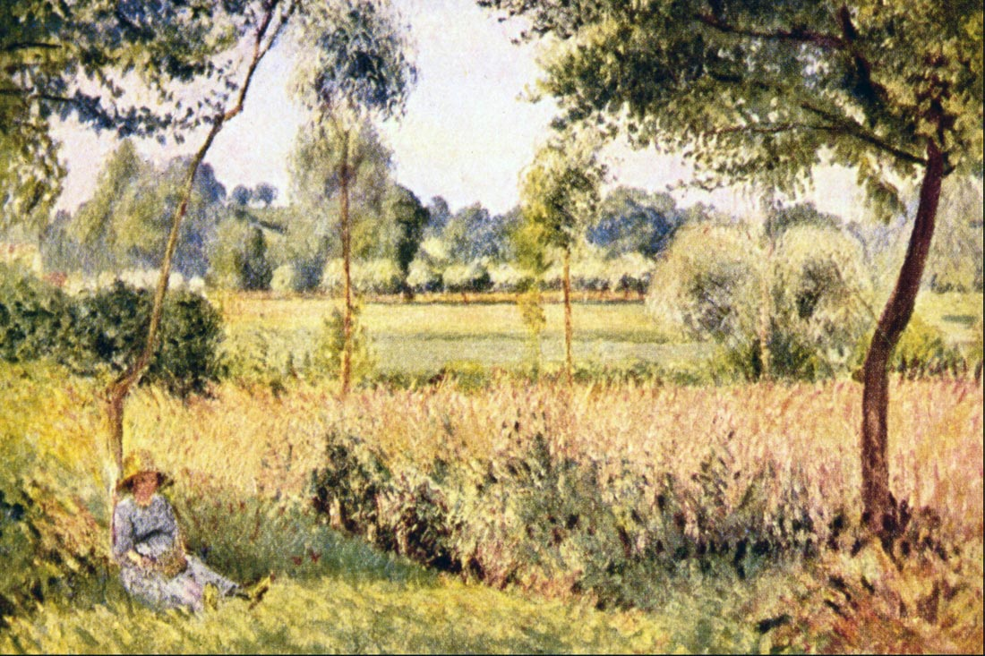 Matin a Eragny - Pissarro