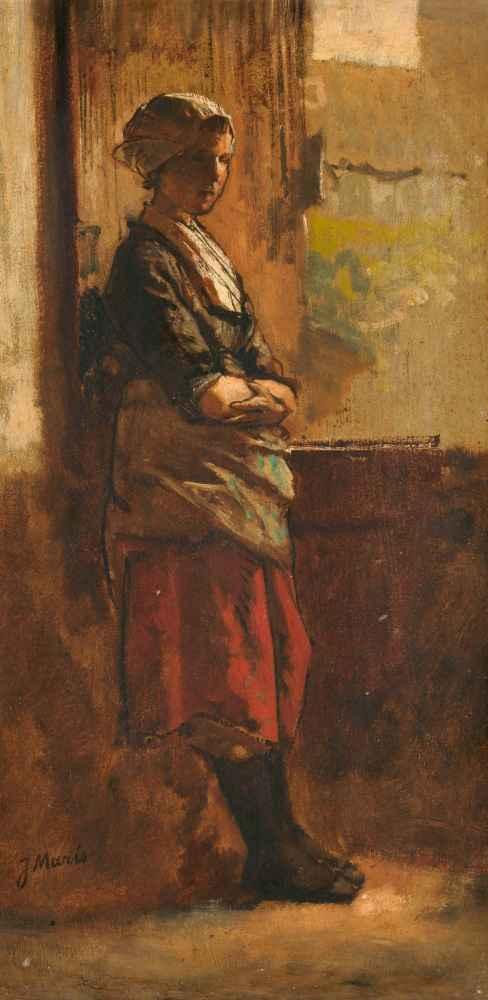 Meisje bij een deuropening - Matthijs Maris