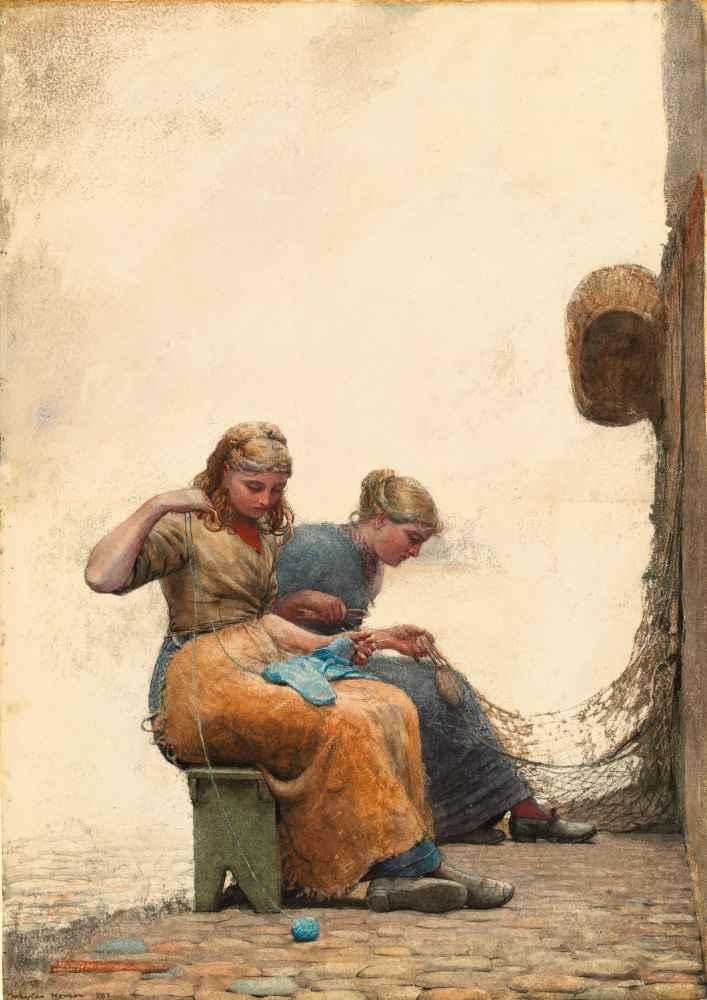 Mending the Nets - Winslow Homer