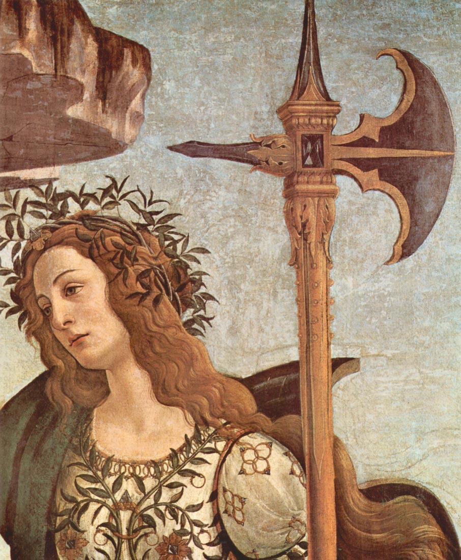 Minerva and the Centaur Detail - Botticelli