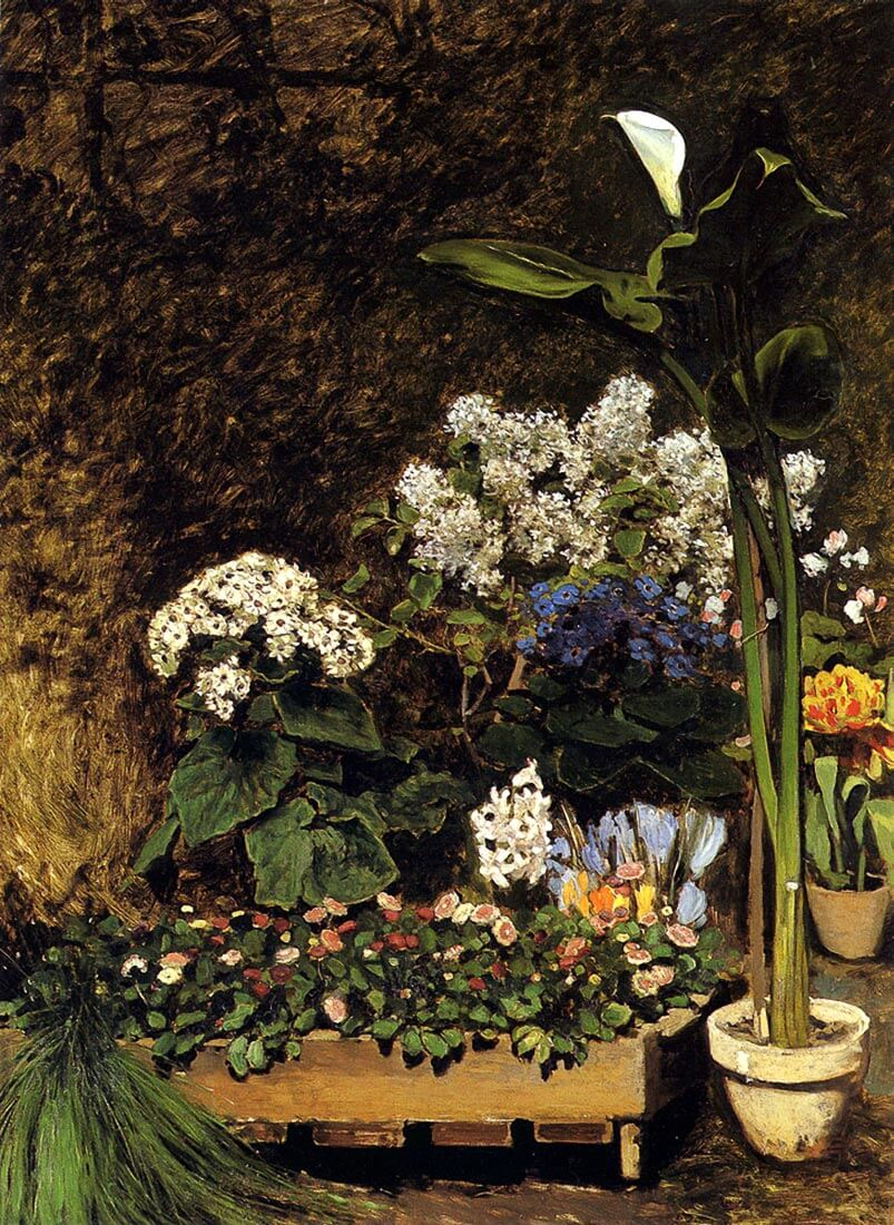 Mixed spring flowers - Renoir