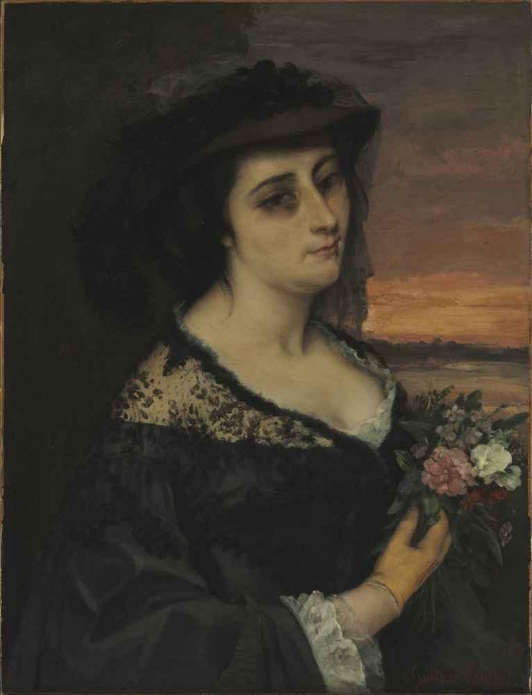 Mme L... (Laure Borreau) - Gustave Courbet