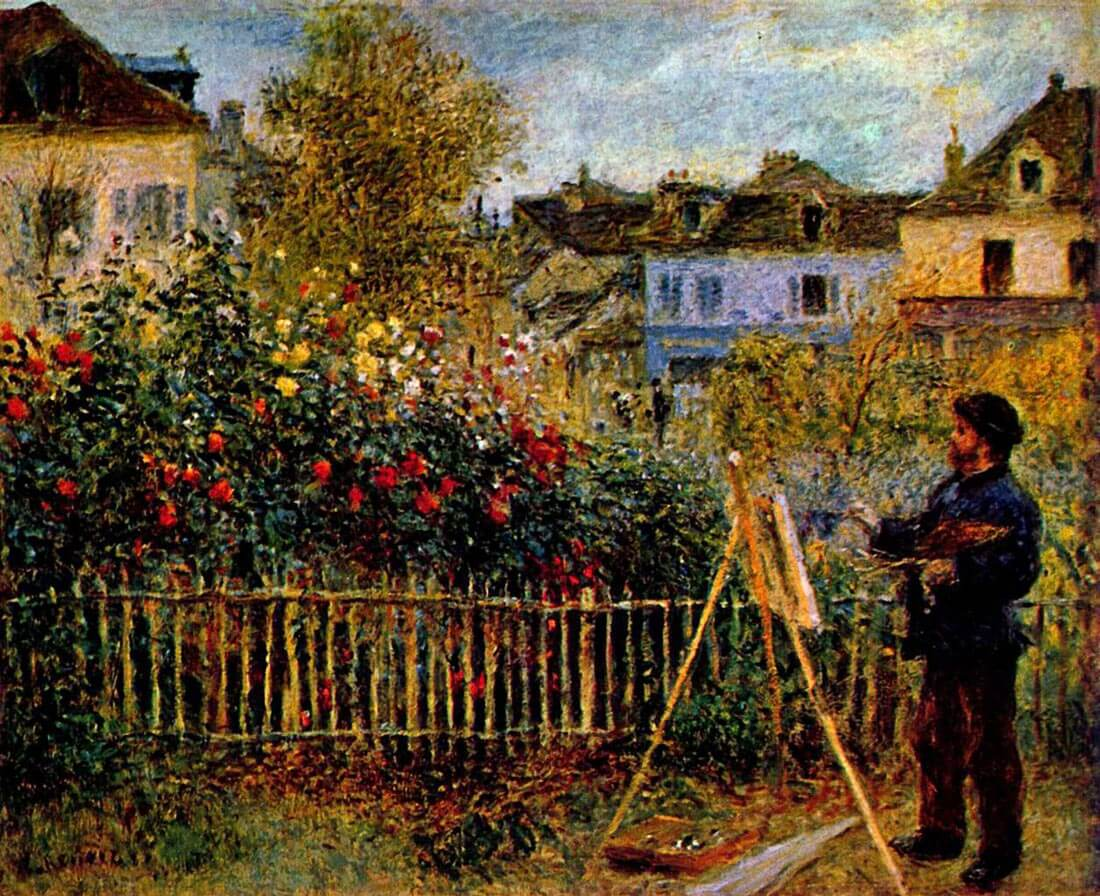 Monet painting in his garden in Argenteuil - Monet