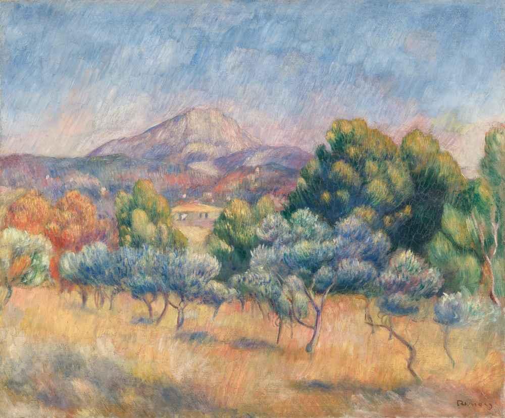Mont Sainte-Victoire - Auguste Renoir