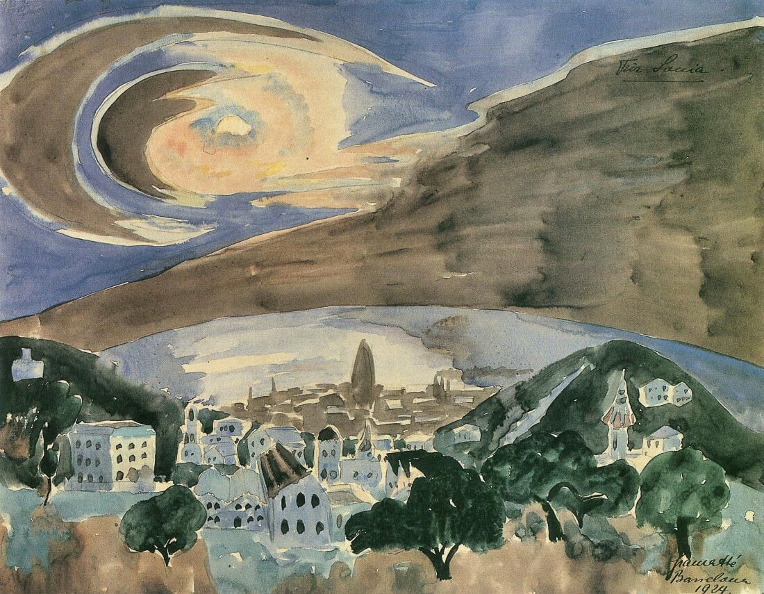 Moon over Barcelona - Walter Gramatte