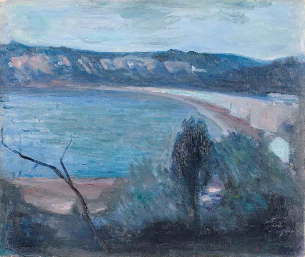 Moonlight by the Mediterranean - Edward Munch
