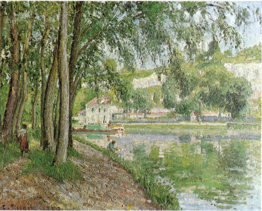 Moret canal du Loing 1902 - Pissarro