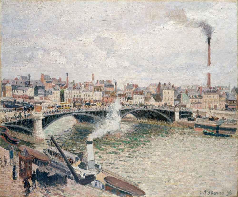 Morning, An Overcast Day, Rouen - Camille Pissarro