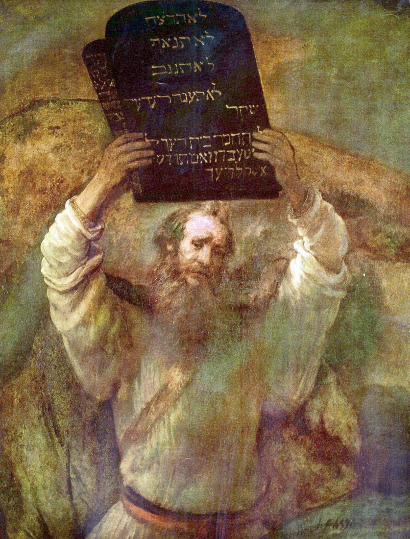 Moses with the commandments - Rembrandt