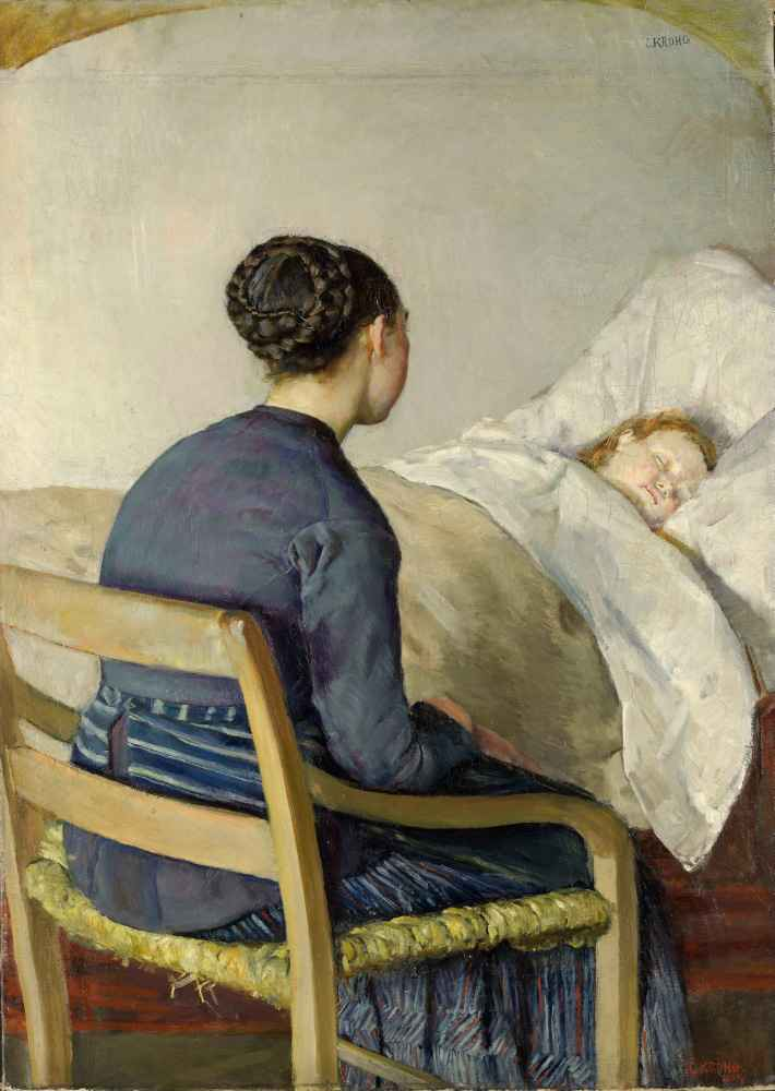 Mother at her Childs Bed - Christian Krohg