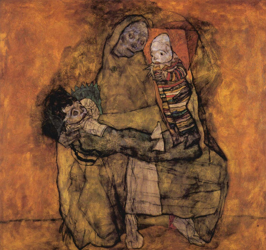 Mother with two children - Schiele
