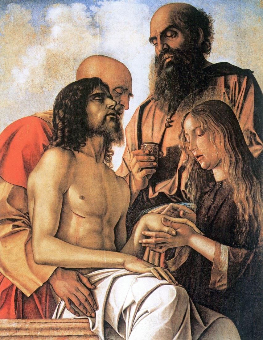 Mourning of Christ with Joseph, Nicodemus and Mary Magdalene - Bellini