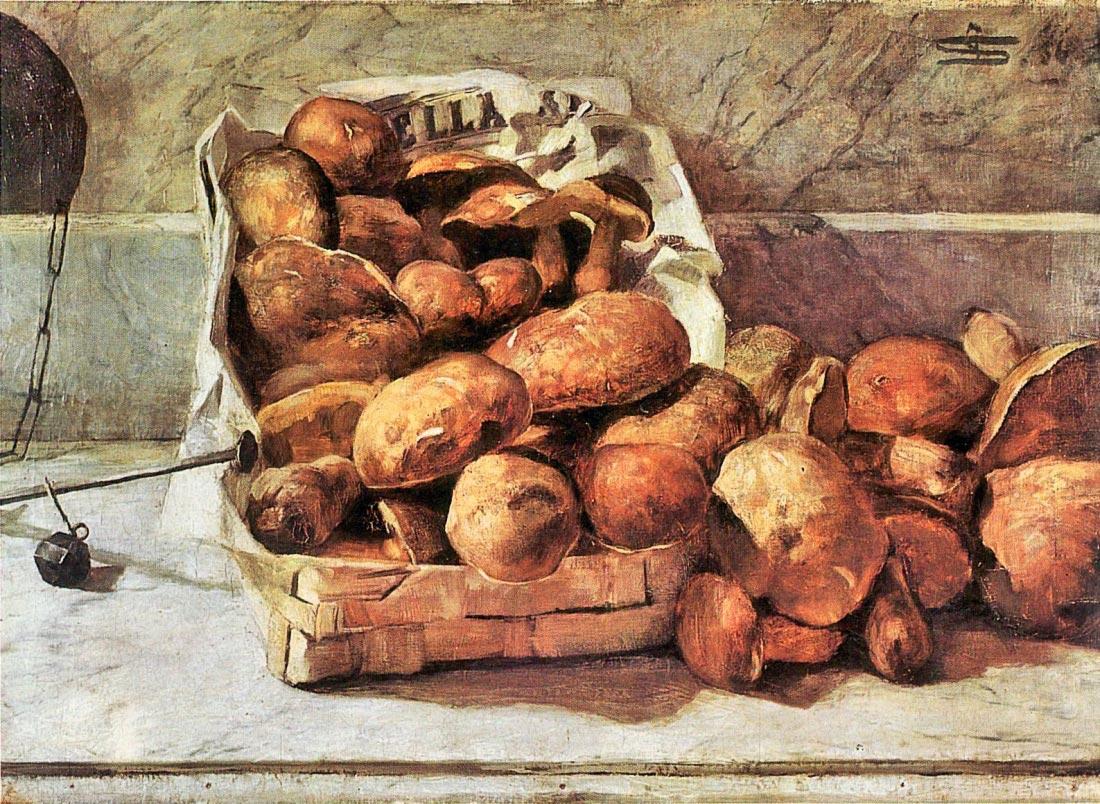 Mushrooms - Giovanni Segantini